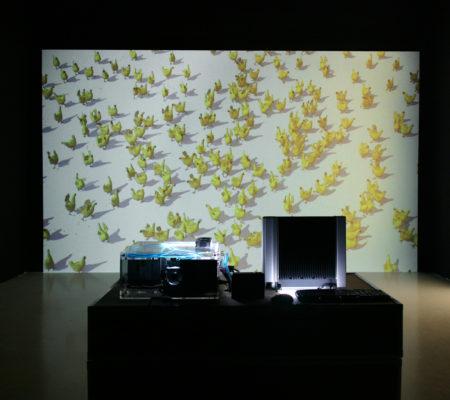 """Martin Le Chevallier, """"Chicken Bench"""", 2007, logiciel de combat combat software - galerie Jousse Entreprise"""