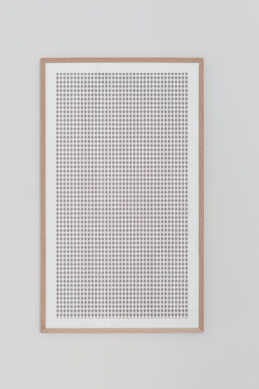 Jennifer Caubet, Constellation dérivée #2, 2012, sérigraphie, 120 x 70 cm