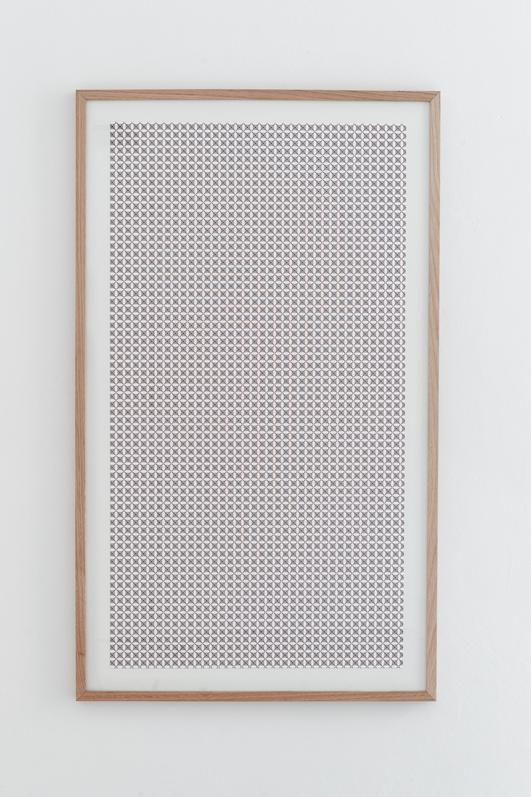 Jennifer Caubet, Constellation dérivée #1, 2012, sérigraphie, 120 x 70 cm