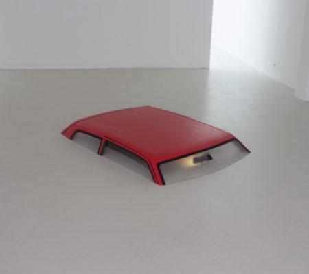 """Martin Le Chevallier, """"Ophélie"""", 2014, installation, 189 x 120 x 22 cm - galerie Jousse Entreprise"""