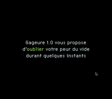 """Martin Le Chevallier, """"Gageure 1.0"""", 1999, cdrom - galerie Jousse Entreprise"""