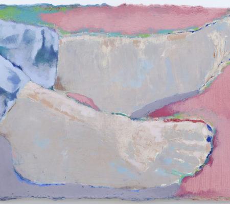 Les pieds nus le toit, 2020, huile sur toile, 25 x 33 cm_photo Julie Coulon_web_1