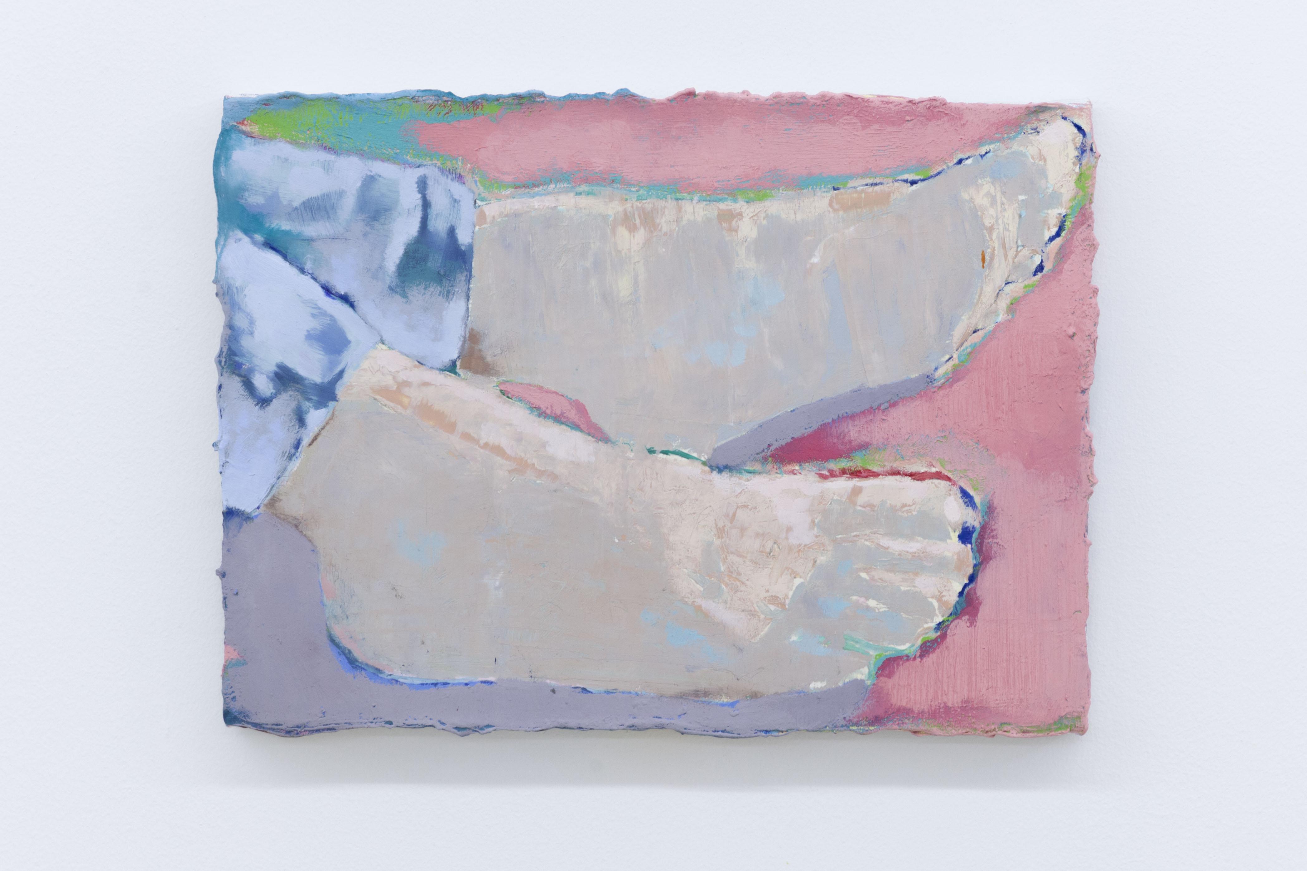 Les pieds nus le toit, 2020, huile sur toile, 25 x 33 cm_photo Julie Coulon_web_2
