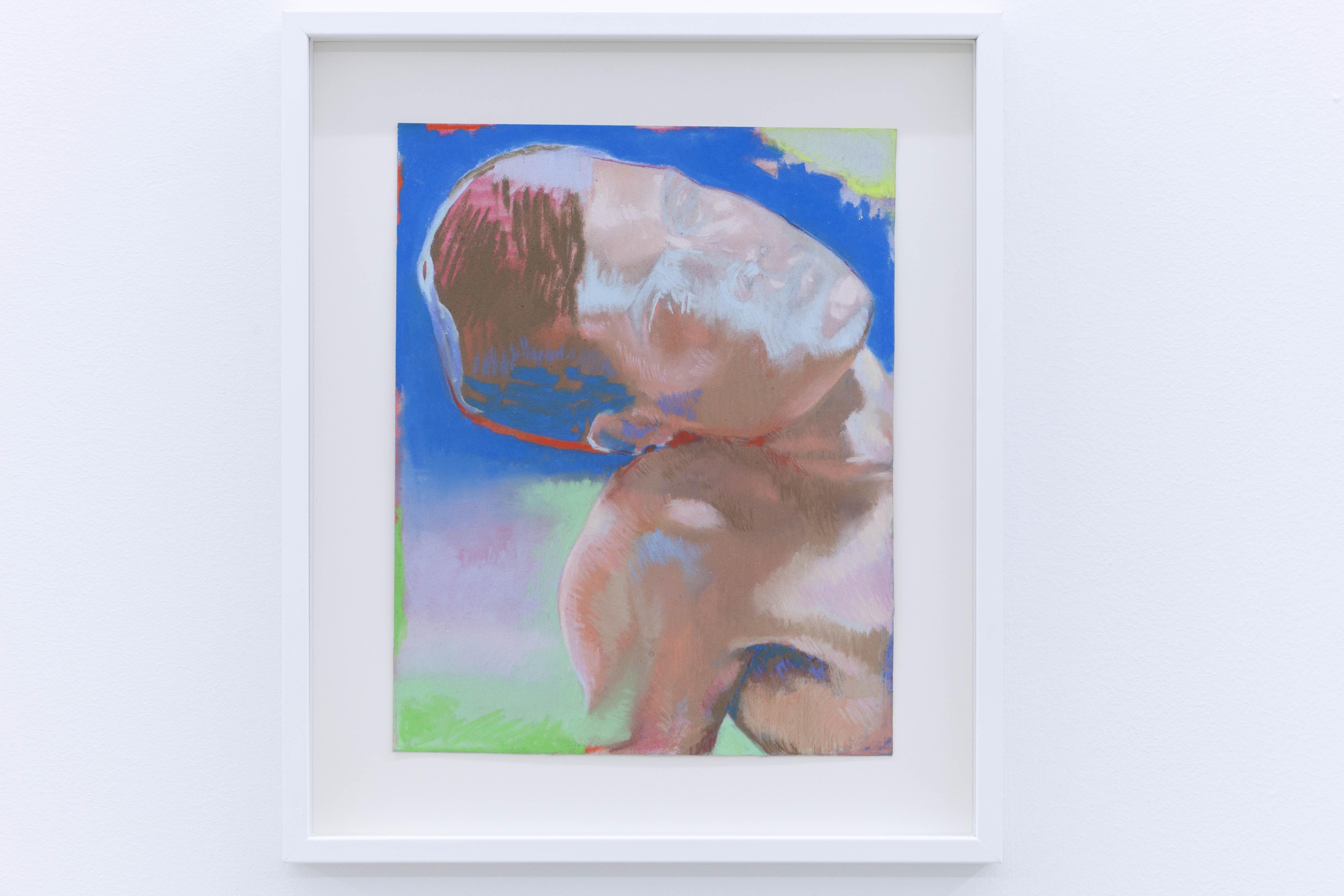 Portrait au soleil gris, 2020, pastel sec sur papier, 24 x 19 cm_photo Julie Coulon_web_2