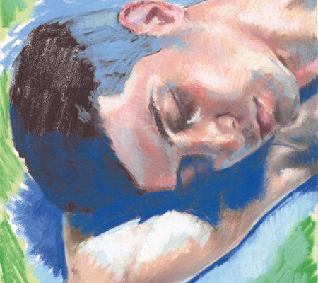 Sabrine, étude, 2020, pastel sec sur papier, 24 x 19 cm_web