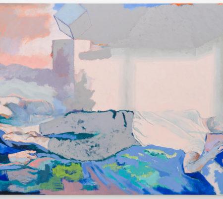 Sur le lit, ton T-shirt a la clarté du jour, 2020, huile sur toile, 160 x 260 cm_photo Grégory Copitet_web_1