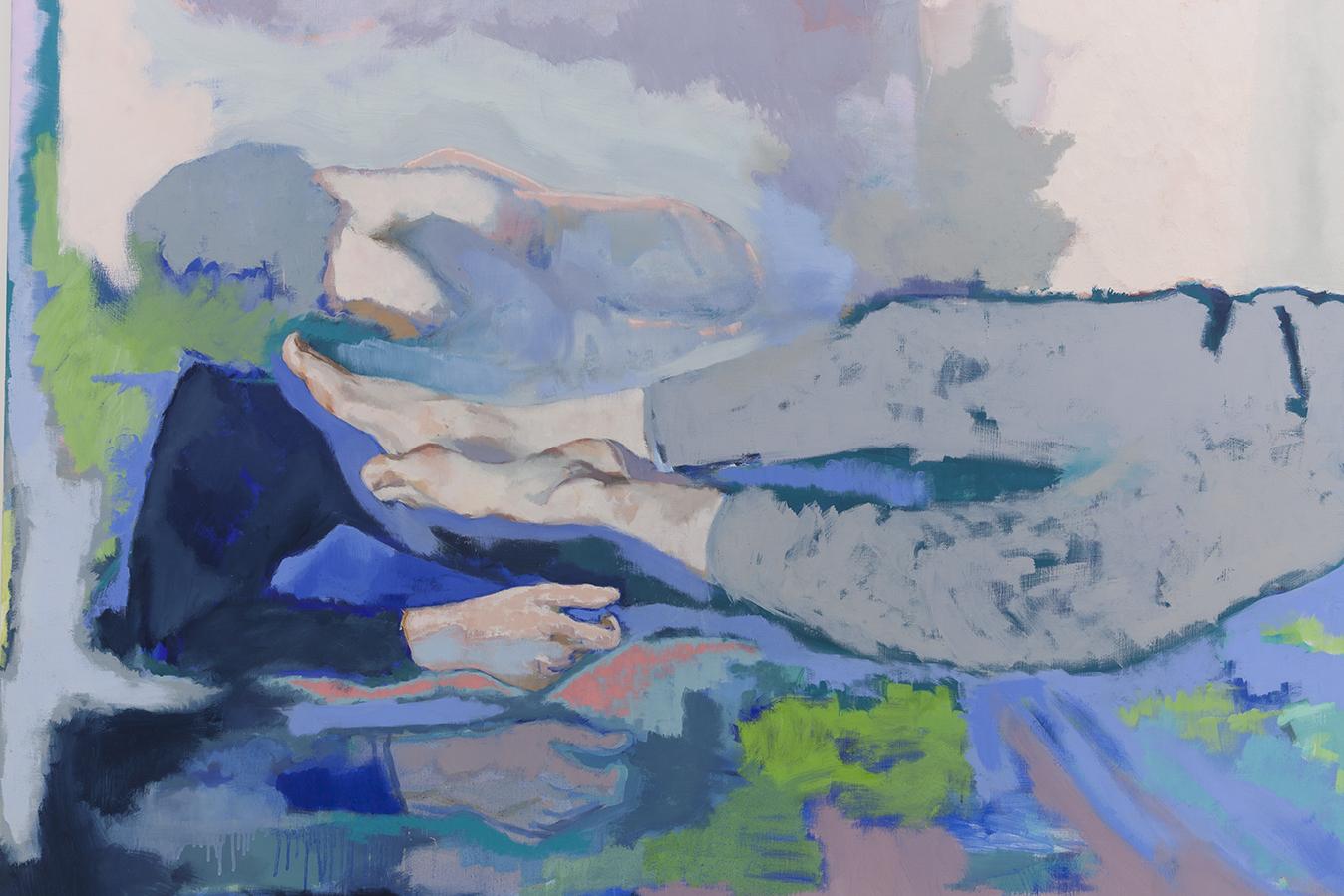 Sur le lit, ton T-shirt a la clarté du jour, 2020, huile sur toile, 160 x 260 cm_photo Julie Coulon_web_3