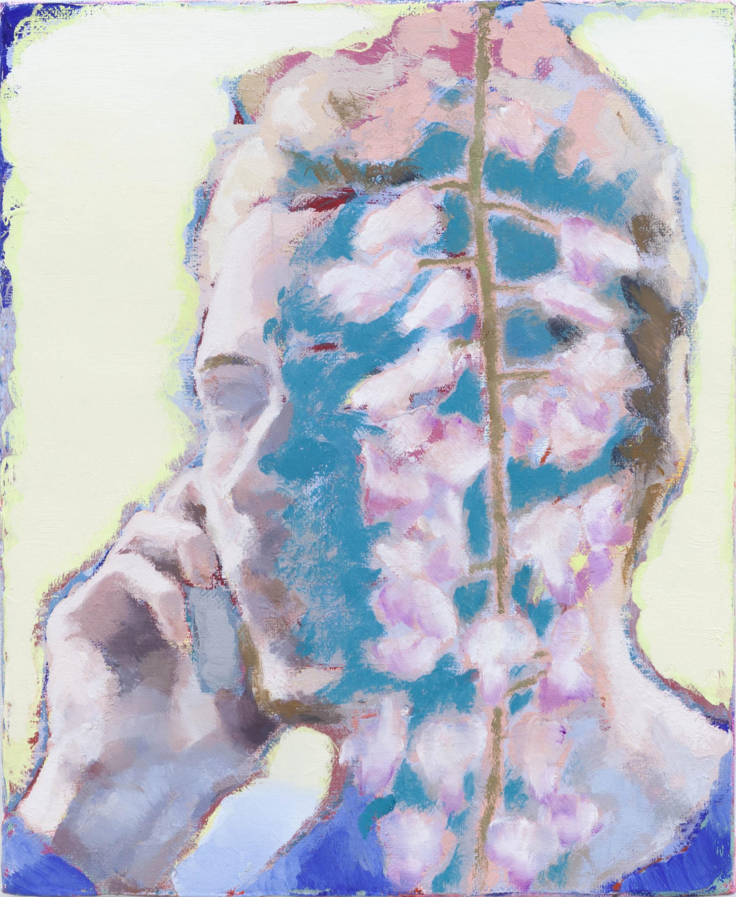 Ta voix dans les glycines I, 2020, huile sur toile, 27 x 22 cm_photo Julie Coulon_web_1
