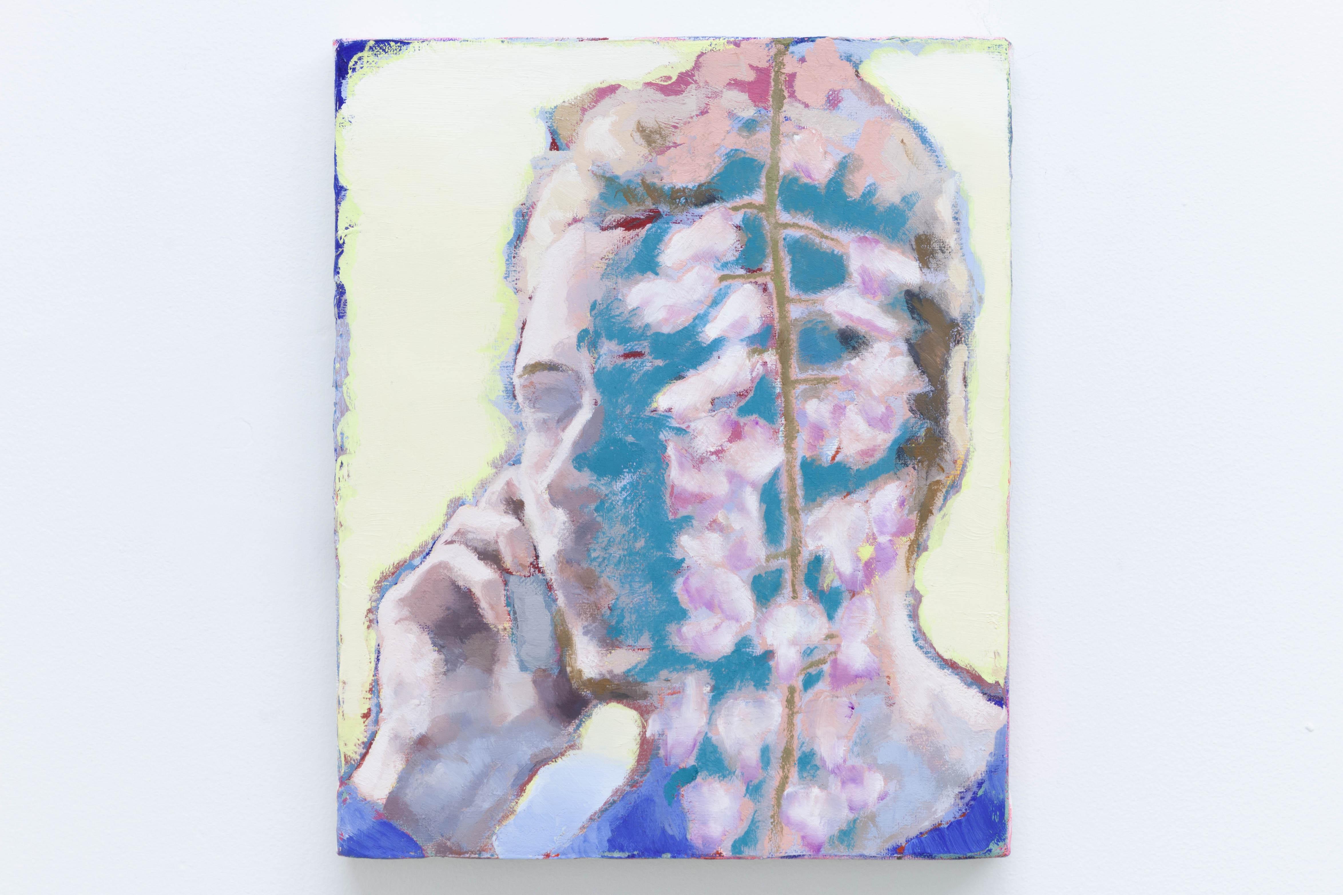 Ta voix dans les glycines I, 2020, huile sur toile, 27 x 22 cm_photo Julie Coulon_web_2
