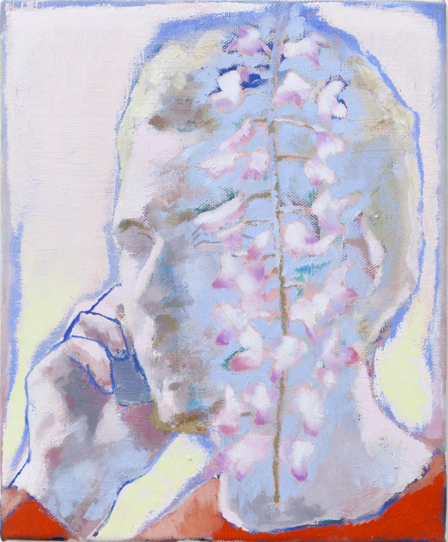 Ta voix dans les glycines II, 2020, huile sur toile, 27 x 22 cm_photo Julie Coulon_web_1