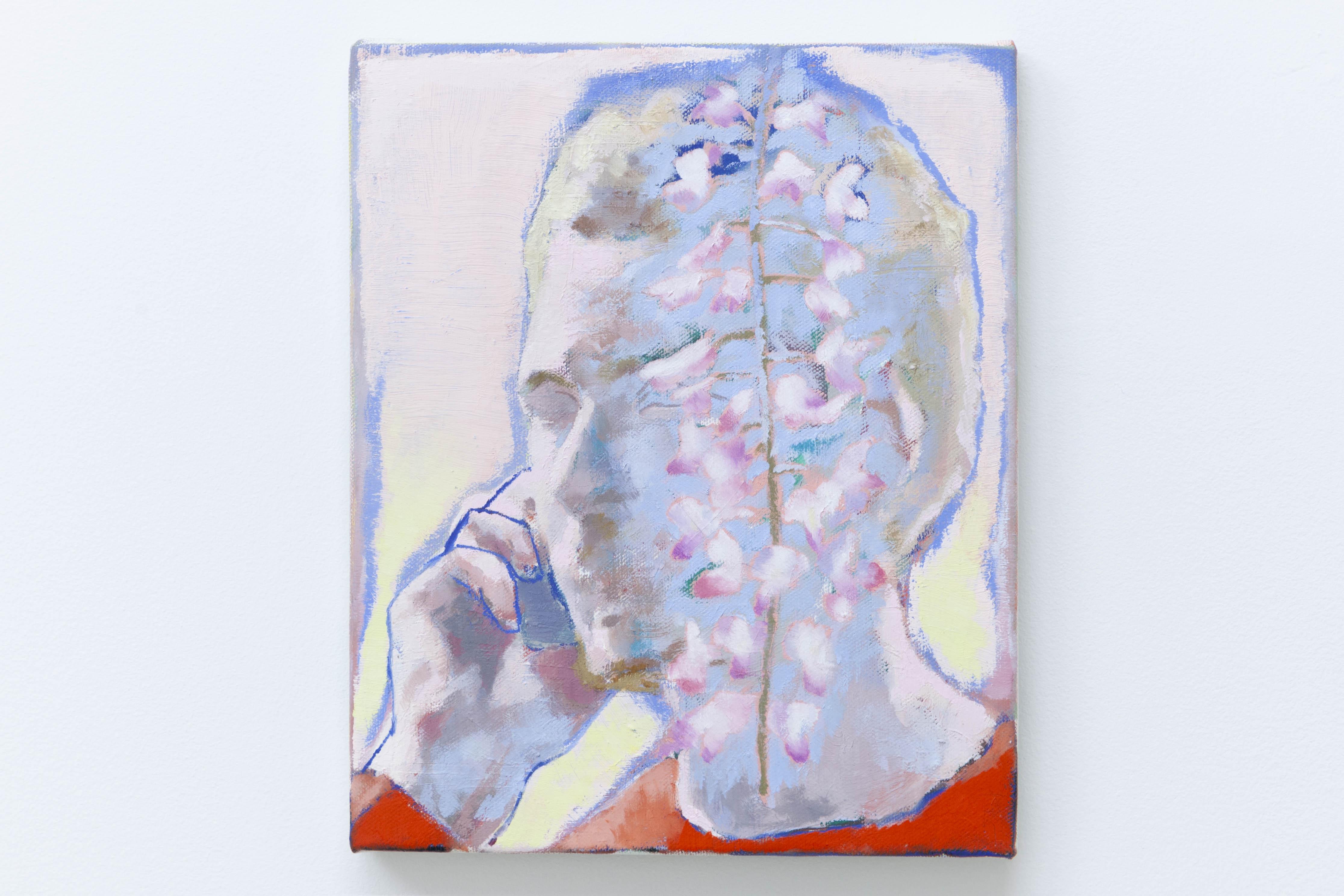 Ta voix dans les glycines II, 2020, huile sur toile, 27 x 22 cm_photo Julie Coulon_web_2