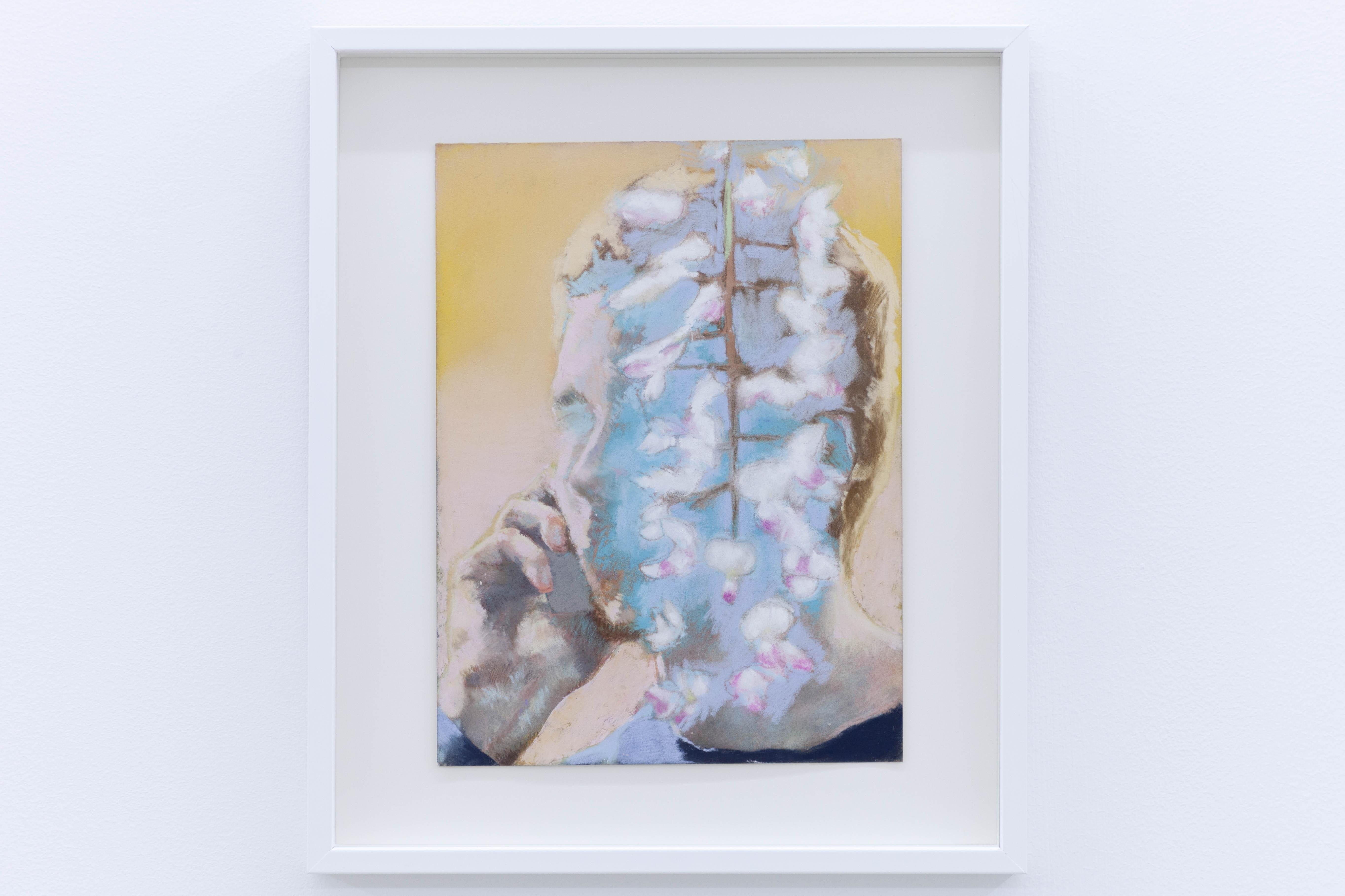 Ta voix dans les glycines, étude, 2020, pastel sec sur papier, 24 x 19 cm_photo Julie Coulon_web_2