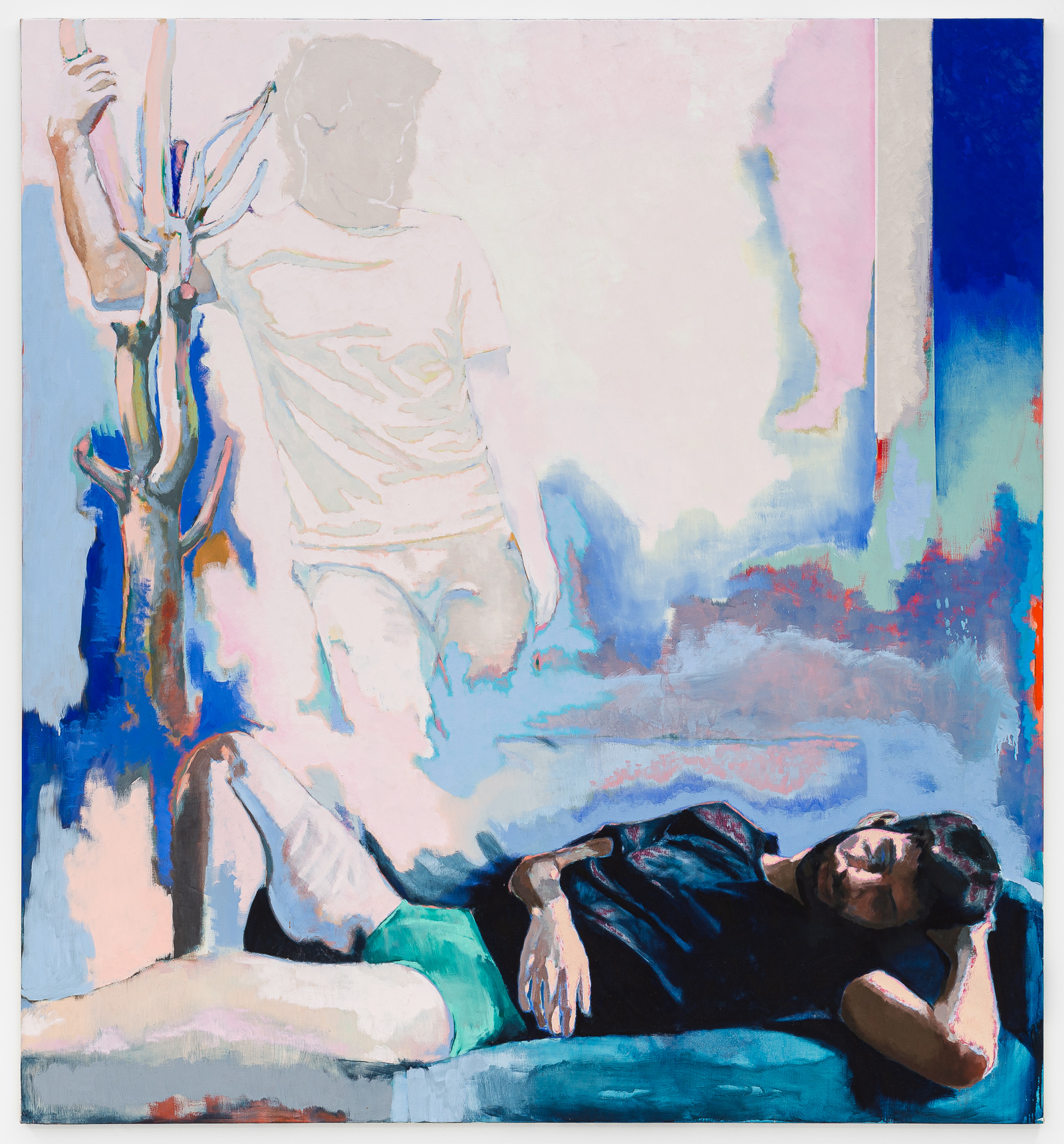 Ton absence laisse des traces sur le plâtre des murs, 2020, huile sur toile, 195 x 180 cm_photo Grégory Copitet_web