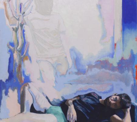 Ton absence laisse des traces sur le plâtre des murs, 2020, huile sur toile, 195 x 180 cm_photo Julie Coulon_web_1