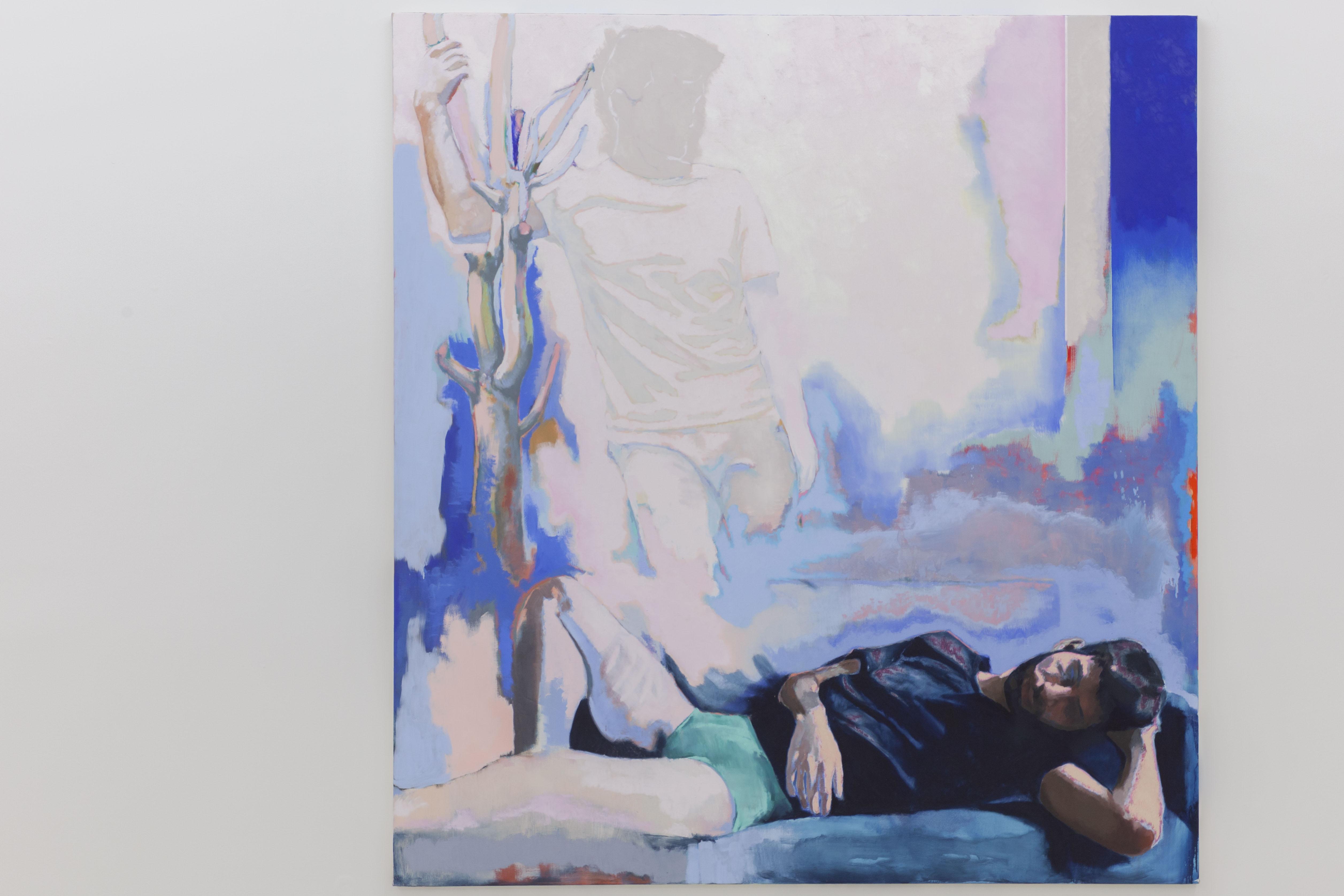 Ton absence laisse des traces sur le plâtre des murs, 2020, huile sur toile, 195 x 180 cm_photo Julie Coulon_web_2