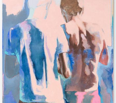 Ton corps s'illumine de l'écume des écrans, 2020, huile sur toile, 130 x 97 cm_photo Grégory Copitet_web