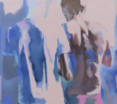 Ton corps s'illumine de l'écume des écrans, 2020, huile sur toile, 130 x 97 cm_photo Julie Coulon_web_1