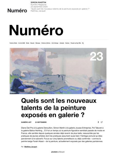 2020.09.23_Numéro Magazine_Matthieu Jacquet