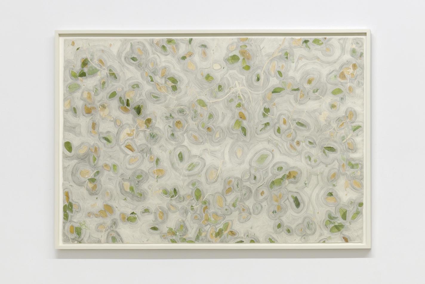 Saison Science 4, 2011-2014, papier de riz avec incrustations et graphite, 64 x 94 cm_crédit Jérôme Michel