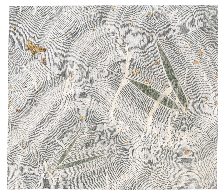 Sans titre (1), 2015, papier de riz avec incrustations et graphite, 19,5 x 22 cm_crédit JL Vilmouth