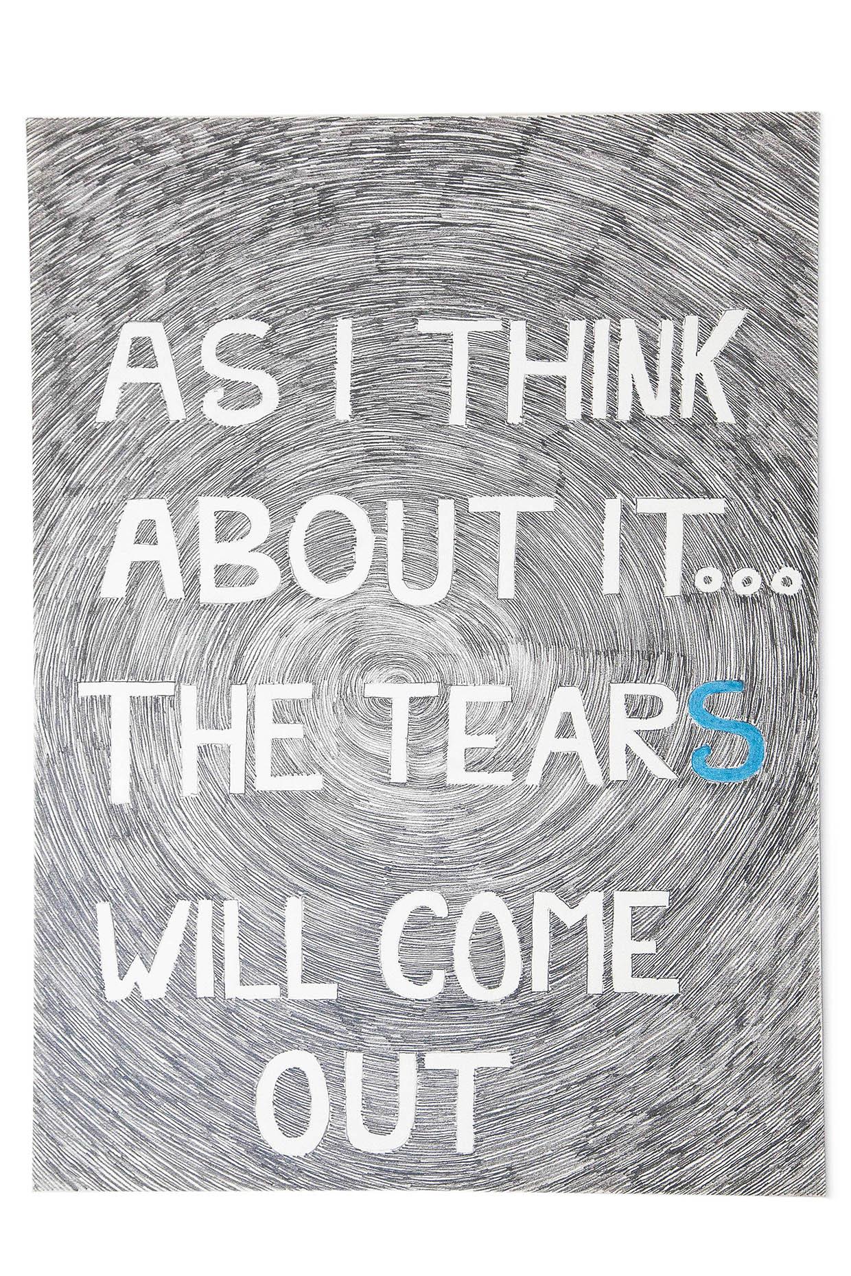 Sans titre (As I Think...), 2013, crayons de couleur sur papier, 43 x 29,2 cm_crédit JL Vilmouth_web