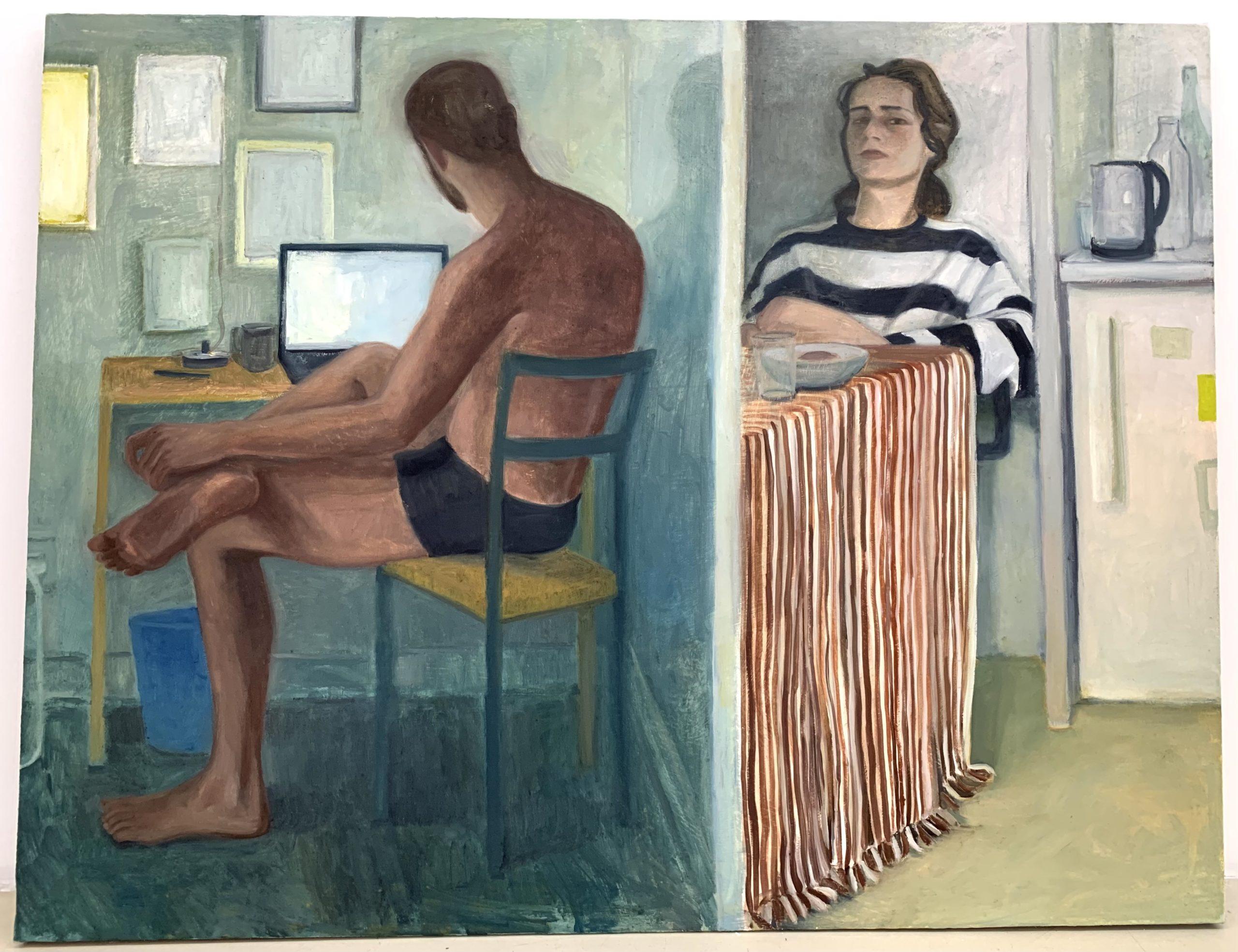 Cloison, 2020, huile sur toile, 116 x 81 cm