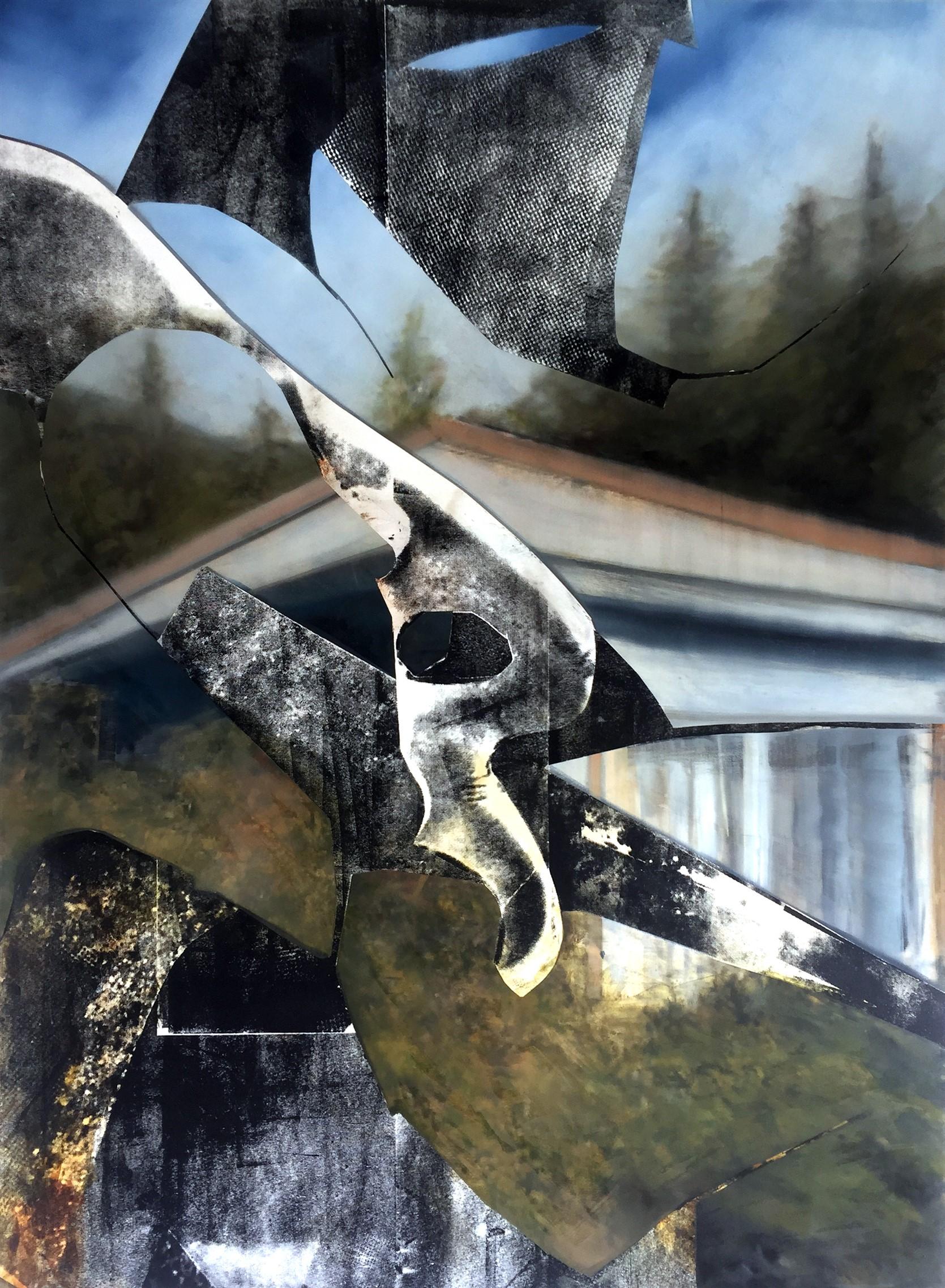 Eva Nielsen, Gradient, 2020, oil, acrylic and silkscreen ink on canvas, 190 x 140 cm_web