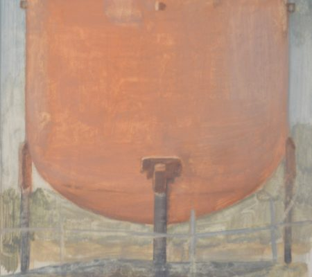 Water tower, 2018, 27x23cm, oil on wood