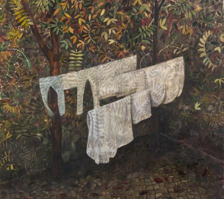 Cour intérieure, 2020, huile sur toile, 195 x 160 cm_web