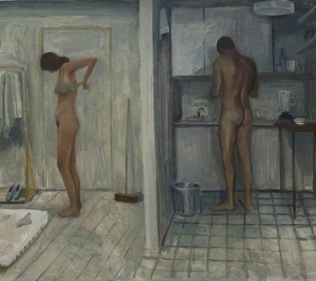 Le couple, 2021, huile sur toile, 62 x 83 cm