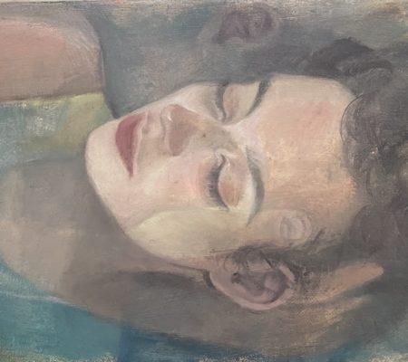 Madeleine et Clément, 2020, huile sur toile, 22 x 27 cm