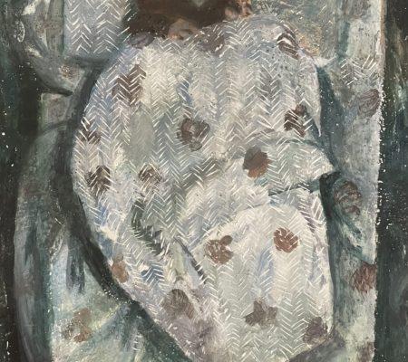 Madeleine et Clément, version 3, huile sur bois, 27 x 22 cm