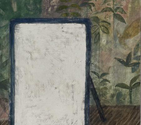 Miroir, 2020, huile sur bois, 27 x 35cm