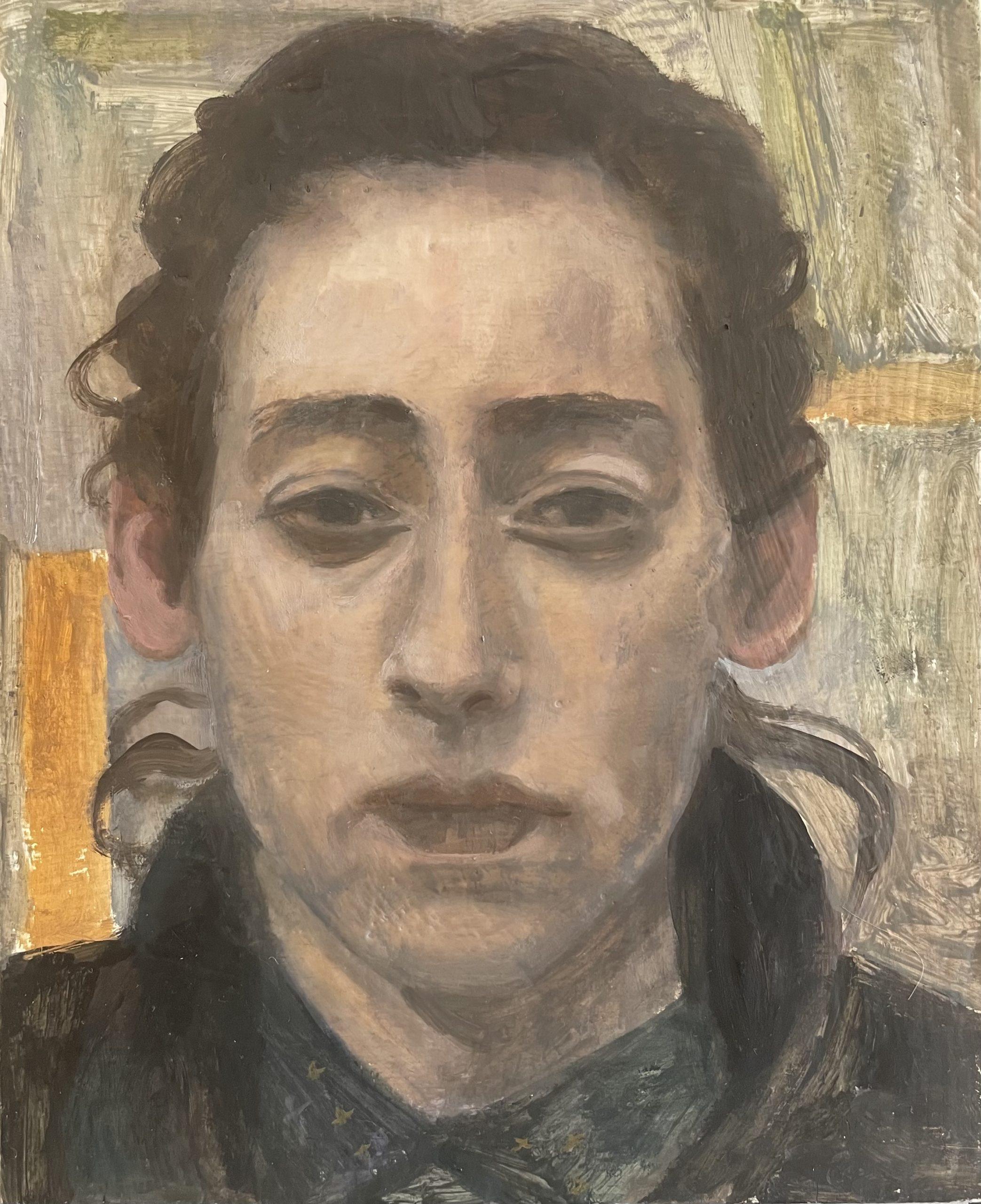 Portrait, 2021, huile sur bois, 27 x 22 cm