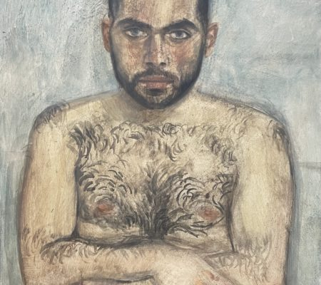 Simon Martin, 2020, huile sur bois, 46 x 38 cm