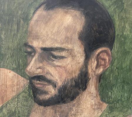 Yehonathan de là-bas, 2021, huile sur bois, 30 x 25 cm_web