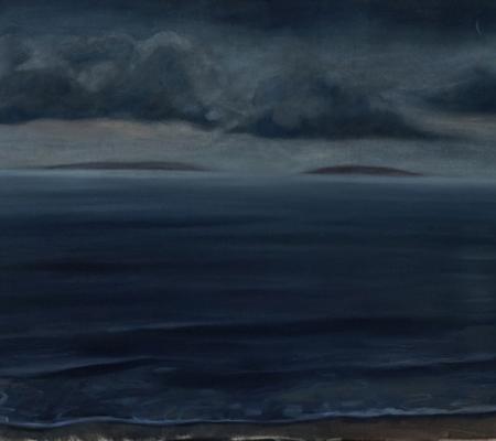 La plage des rejetés, Jaffa, 2020, huile sur toile, 130x162cm