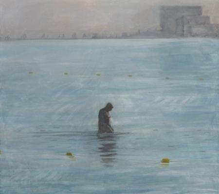 Le port de Jaffa, 2020, huile sur toile, 129x142cm